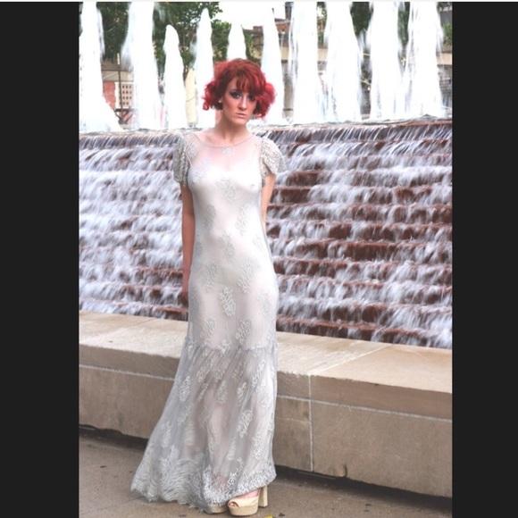 Free People Wedding Dress.Free People Open Back Sophia Lace Maxi Dress S
